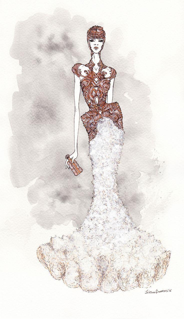 Alezander McQueen ss 12 | elenapaoletti_illustrations