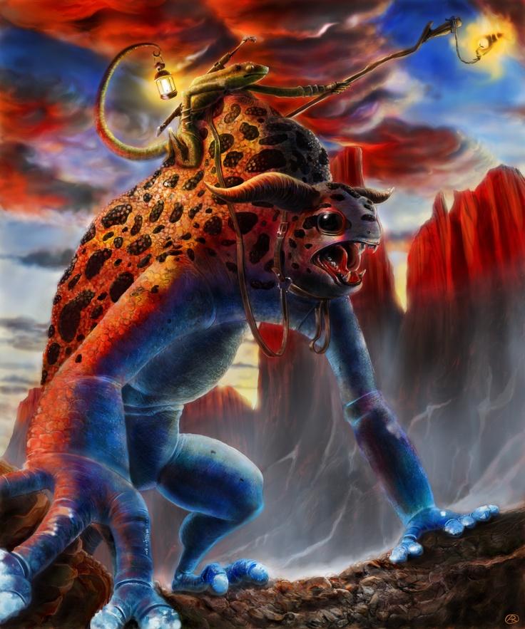 Lo Stregone Lucertola - The Lizard Wizard  tavoletta grafica & Photoshop - graphic tablet & Photoshop