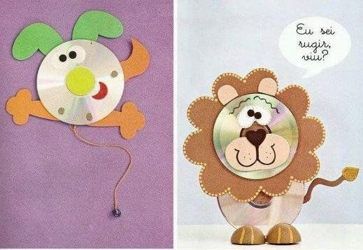 82 best trabajos con cd images on pinterest cd crafts - Manualidades con cd viejos ...