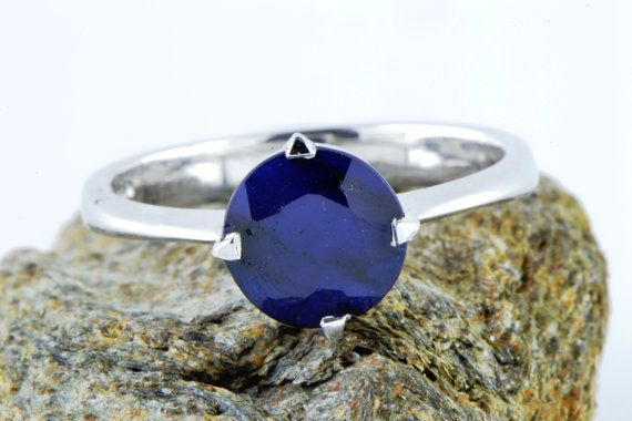 Natural Earth Mined Sapphire Ring September by LuckyGirlAtelier