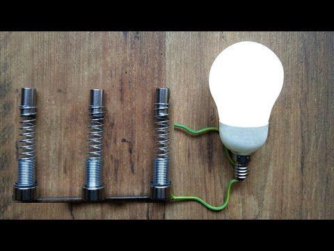 Scaling free energy generators. Feeding LED bulb with two free energy resonators. - YouTube