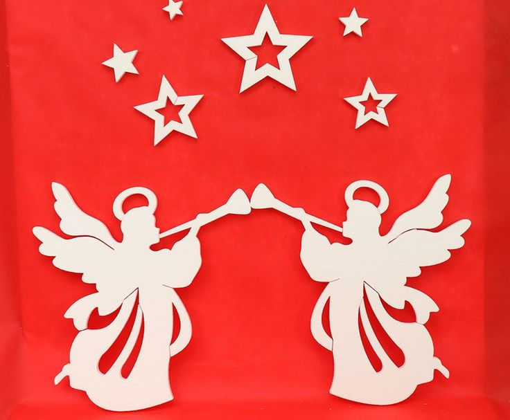 Duże anioły 49cm – Zestaw dekoracji nr 15