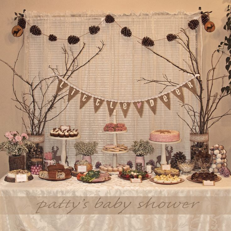 country rustic baby shower | rustic baby shower deer theme country pink little deer woodland crafty ...