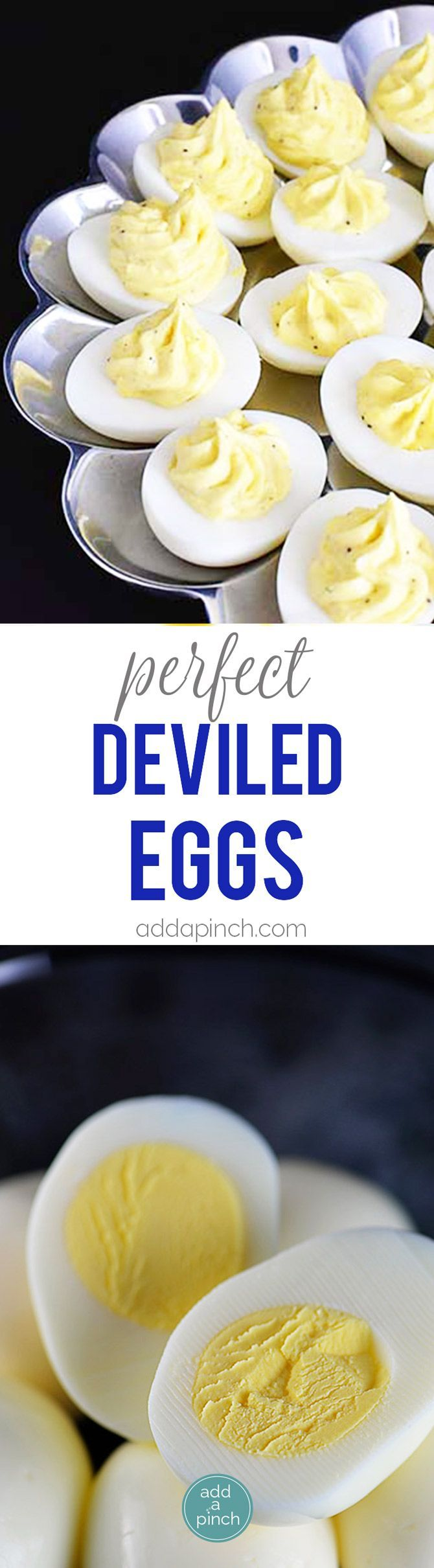 Perfect Deviled Eggs - the perfect appetizer or side dish for family meals, parties, showers, and other events. : addapinch
