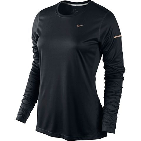 Nike Miler Ls Top Womens BLACK/REFLECTIV