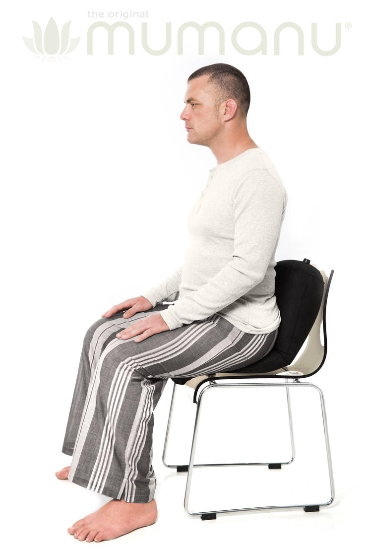You can use the Mumanu Pillow while sitting at your desk or on the sofa to give you comfortably great posture. You just can't slouch! www.mumanu.com