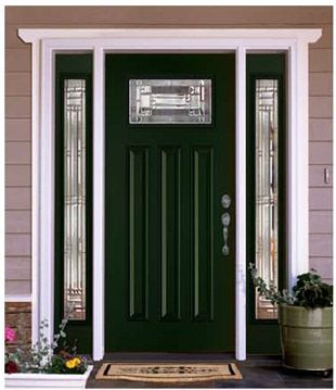 Feather River Door Preston Entry Door painted in Rookwood Shutter Green. & 48 best Doors images on Pinterest | Front doors Front entry and Doors pezcame.com