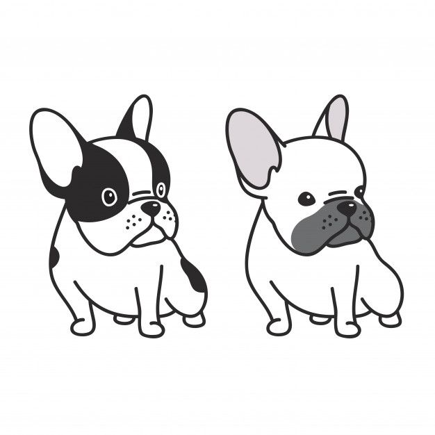 Dog Vector French Bulldog Puppy Cartoon In 2020 Bulldog Puppies