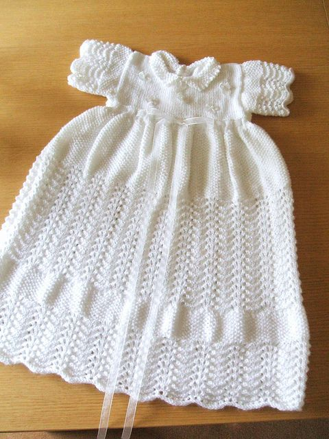 Knitting Instructions For Baby Dress : Best images about knitted christening gowns on