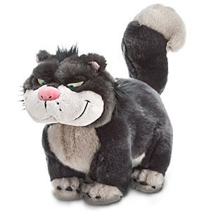 Disney Lucifer Medium Soft Toy   Disney StoreFree Delivery - Get to know a cuddlier side to Lucifer with this gorgeous soft toy! The villainous cat from Cinderella is finished in soft fur-like plush fabric, with embroidered detail.