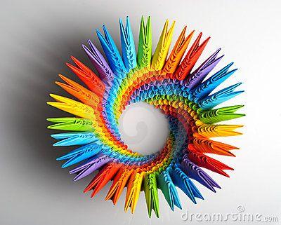Capacidad Del Arco Iris 3d De Origami Imagen de archivo - Imagen: 13699151