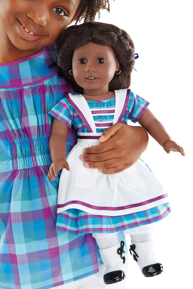 NEW! BeForever Special-Edition Sets Addy's Dress and Sewing Set + Periwinkle Plaid Top and Classic Crops for Girls