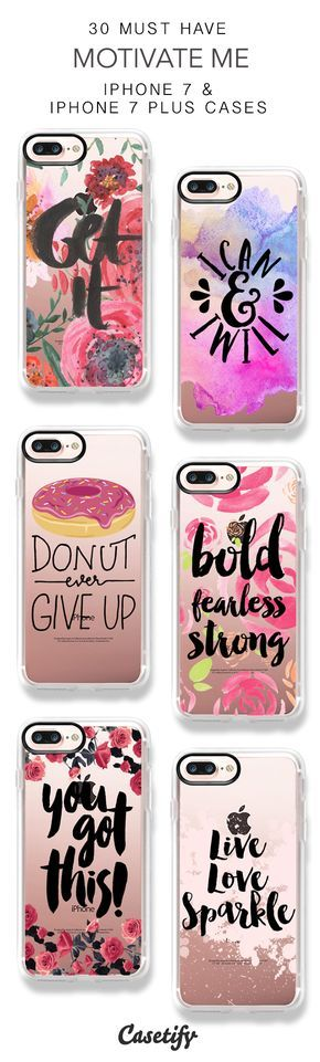 30 Must Have Motivate Me iPhone 7 Cases and iPhone 7 Plus Cases. More Quotes iPhone case here > https://www.casetify.com/collections/top_100_designs#/?vc=YnrFZGO9vo