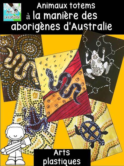 ressources artistiques et éducatives: Peindre des Animaux Totems à la manière des Arborigènes d'Autralie