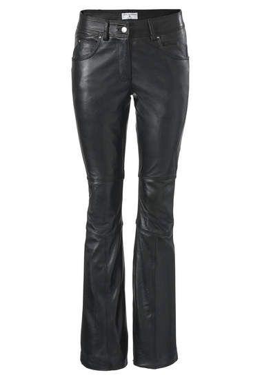 Leren broek zwart leather pants black