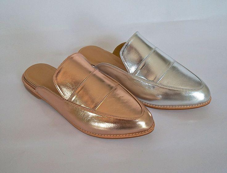 Hand Made Metallic Calf Leather Footwear. WK-23, 22