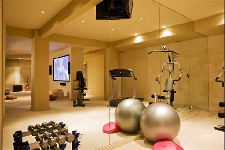 home gym inspiration AtHome Gyms Pinterest Gym Basements