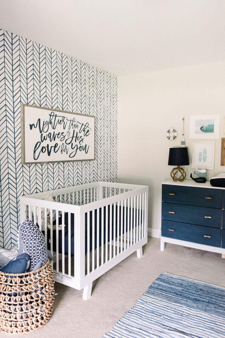 Classy Coastal Nursery Baby Boy Rooms Boy Room Baby Bedroom