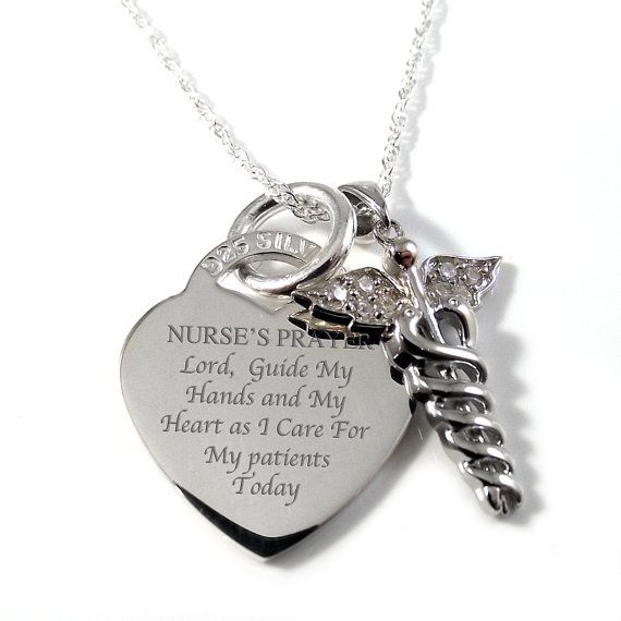 I really want a necklace with nurses' prayer to wear tucked in my scrubs - Someday soon