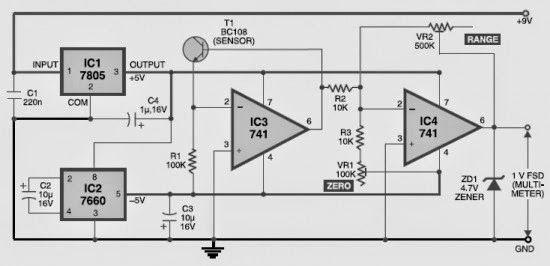DIY digital thermometer circuit - Electronic Circuit