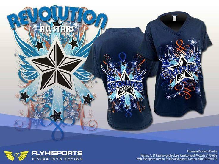 #revolution #allstars #cheer #tee #sublimation