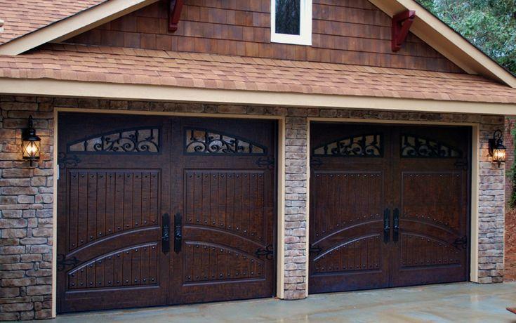 rustic garage doors2 Single Car Garage Doors Finished in Rustic Distressed Mahogany