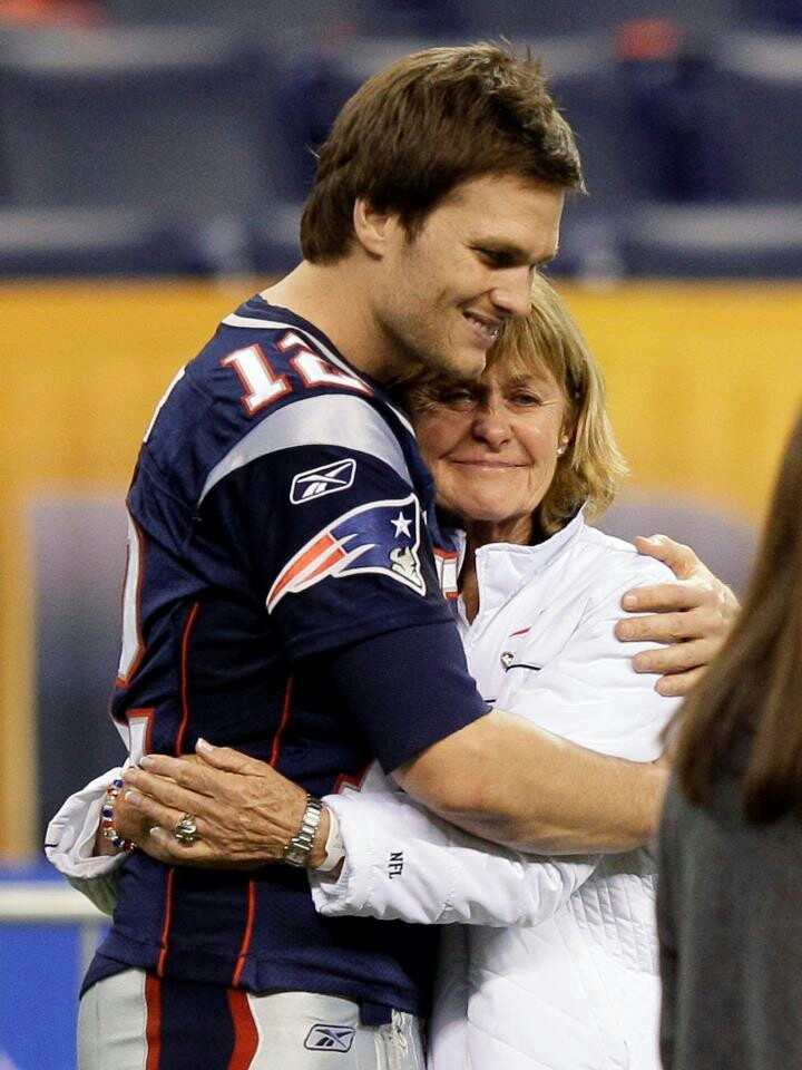 Tom and his mom....God bless this woman!