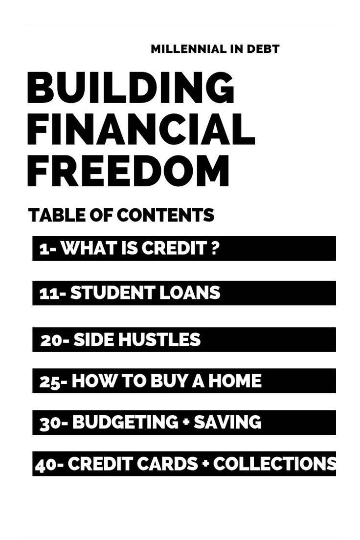 Millennial In Debt E Book Building Financial Freedom Millennial In Debt Financial Freedom Finance Investing Financial Advice