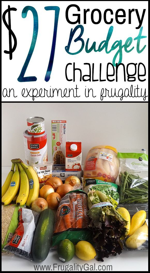 $27 Grocery Budget challenge. An experiment in frugality by feeding two people with one very tightly budgeted meal plan.