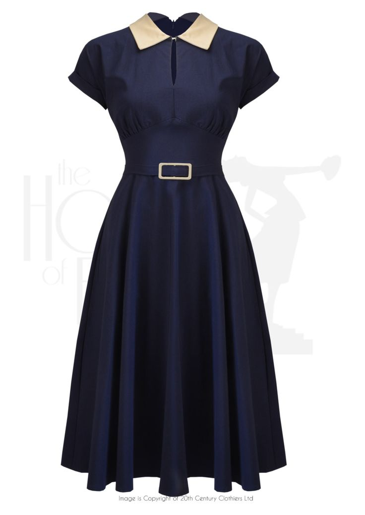 50s 'Sandy' Wing Collar Dress