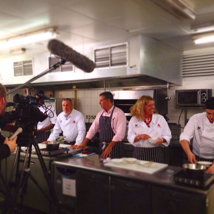 You'll always find us on the kitchen at parties! A shoot well underway.