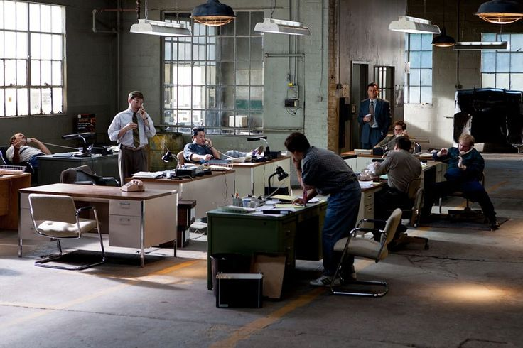 The set of Jordan Belfort's (Leonardo DiCaprio) firm, Stratton Oakmont, from The Wolf of Wall Street