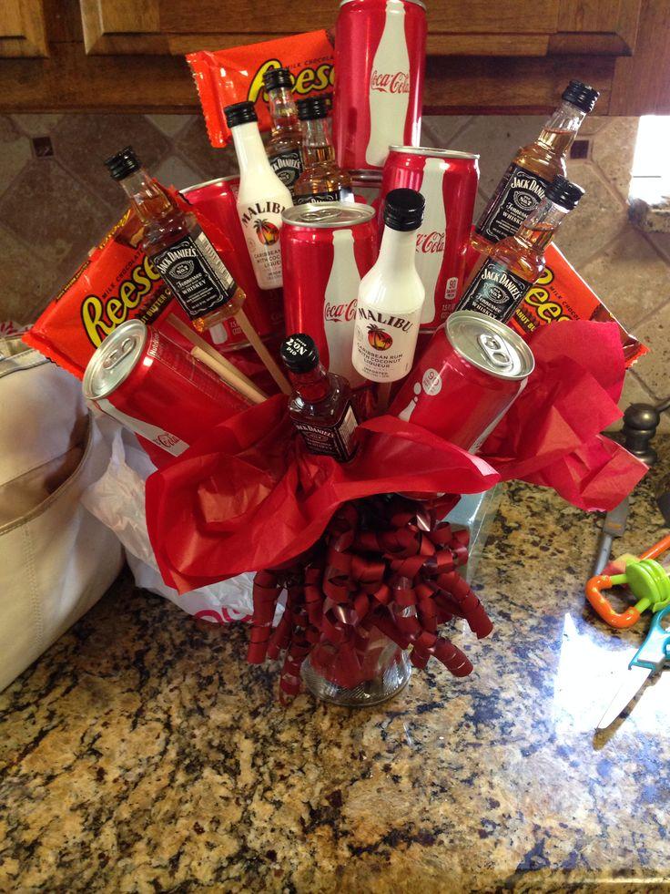 Jack Amp Coke Man Bouquet Diy Pinterest Man Bouquet