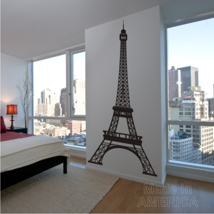 wall decal 8 foot tall eiffel tower - Eiffel Tower Decor For Bedroom