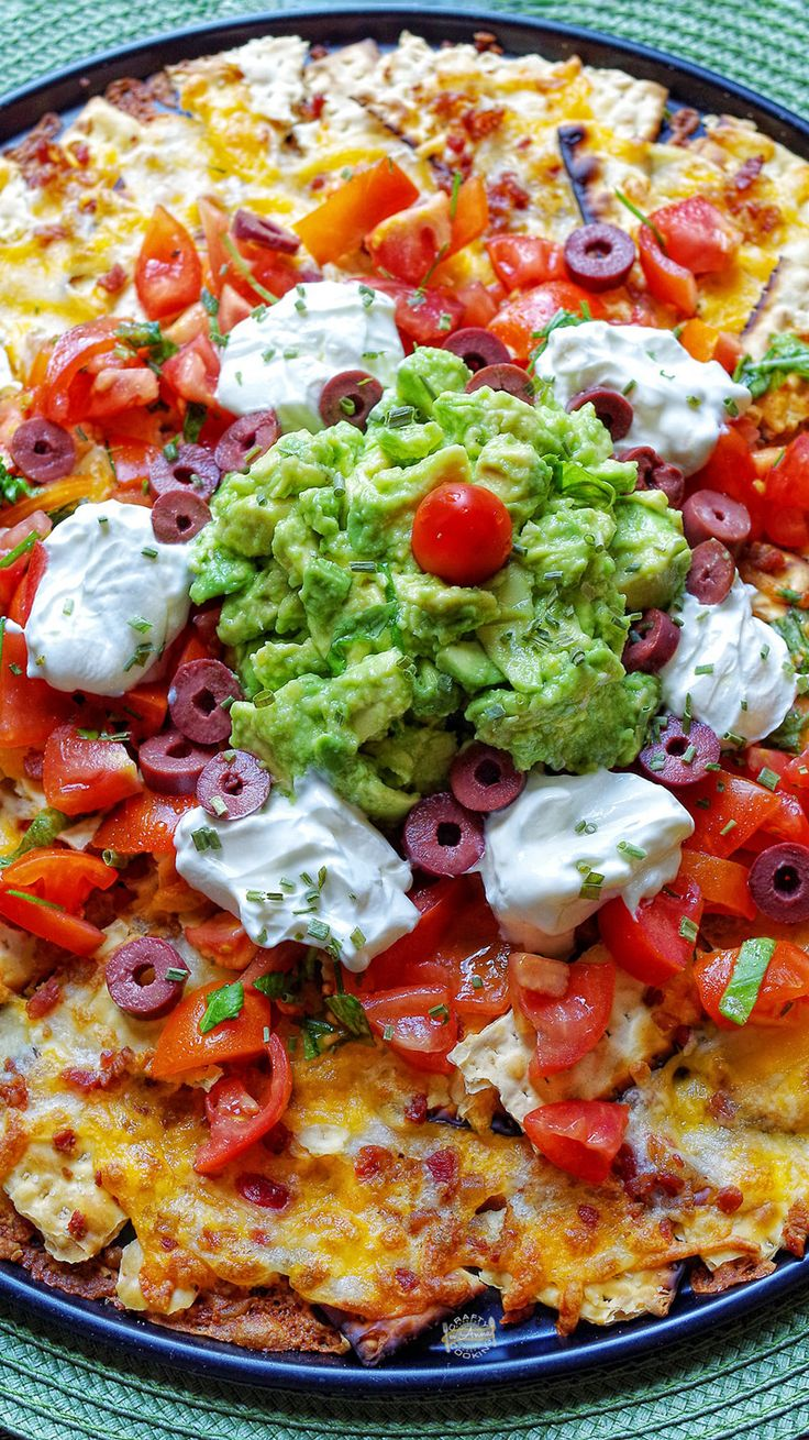 Matzah Nachos with Guacamole! If you are looking for a simple Matzah recipe for Passover – this is IT! Super Easy to make! The Breville toaster oven makes my job even easier.