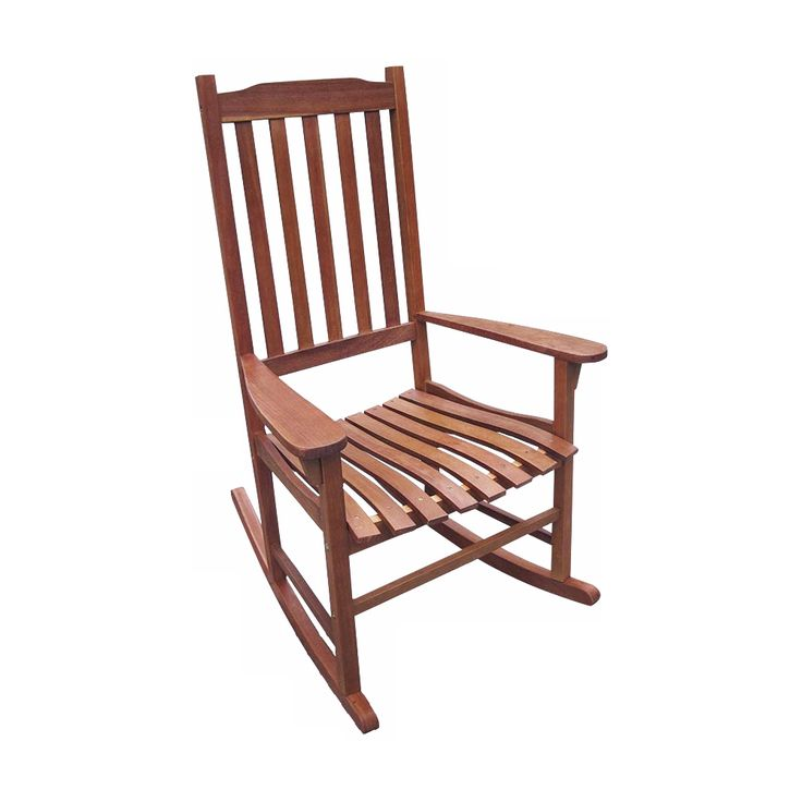 Parklawn Natural Acacia Outdoor Traditional Rocking Chair - Style # 5N293