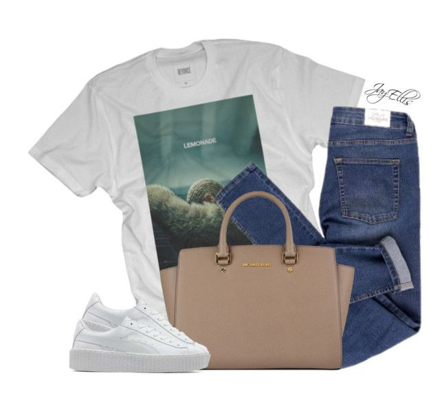 """""""Lemonade"""" by justice-ellis ❤ liked on Polyvore featuring Cheap Monday, MICHAEL Michael Kors and Puma"""