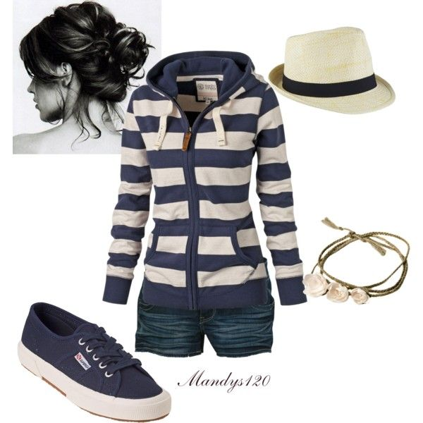 """""""Vacation with messy bun"""" by mandys120 on Polyvore ~ perfect for a day on the lake!"""