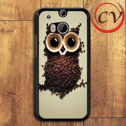 Coffee Owl HTC One M8 Mini Black Case