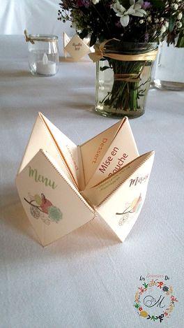 une id e originale avec un menu mariage dans une cocotte en papier retour en enfance assur. Black Bedroom Furniture Sets. Home Design Ideas