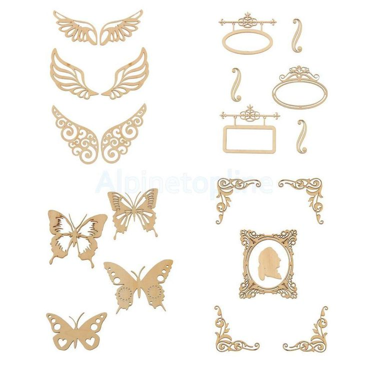 Butterfly Unfinished Wood Shape Craft Supplies Laser Cut Out DIY Arts Home Decor #Unbranded