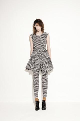 Frilled prairie dress, Pleat pant
