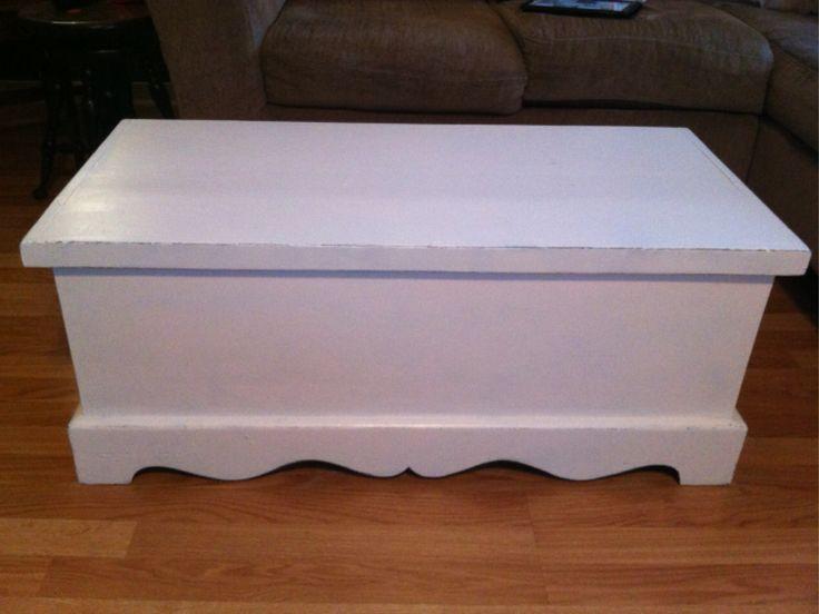 Painted blanket box