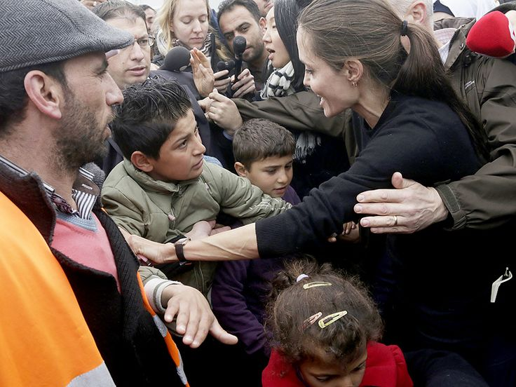Angelina Jolie Pitt Warmly Greets Syrian Refugees in Greece After Lebanon Speech to 'Reinforce' Humanitarian Efforts http://www.people.com/article/angelina-jolie-in-greece-greets-syrian-refugees