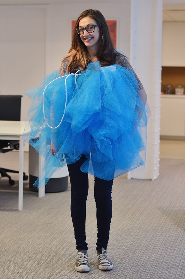 A Loofah! | 35 BuzzFeed Employees Who Dressed Up For Halloween