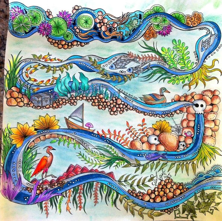 From Enchanted Forest By Johanna Basford Coloured With Faber Castell Polychromos
