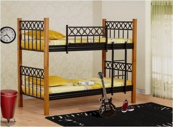Demir Korkuluklu Ikili Ranza Tasarimi Iki Katli Ranza Modelleri Bunk Beds Home Decor Bed