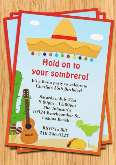 22 best images about Fiesta Invitations on Pinterest ...