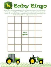 Personalized BINGO GAME CARDS for Baby Shower ~ John Deere Tractor Inspired