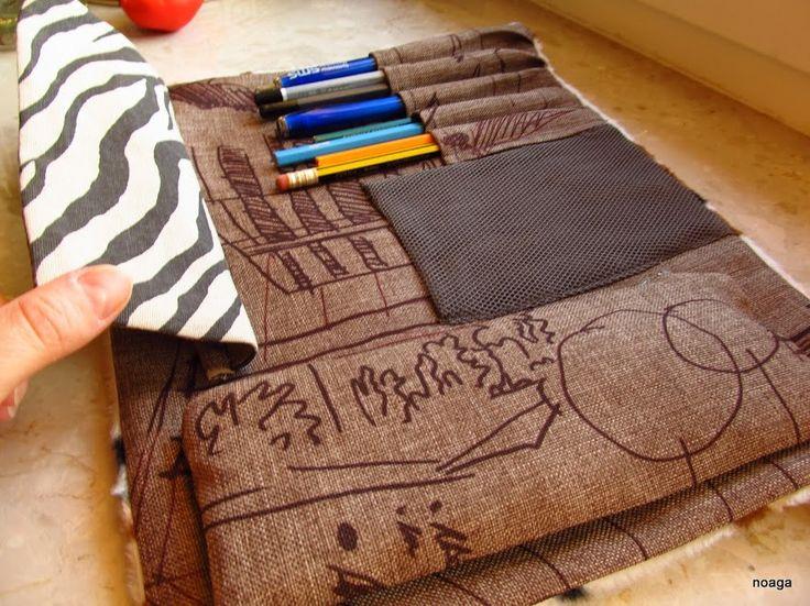 Piórnik z krówkowym wzorem / pencil case handmade